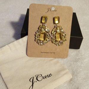 J Crew Rhinestone Earrings